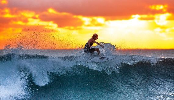 surfer-wave-sunset-the-indian-ocean 2