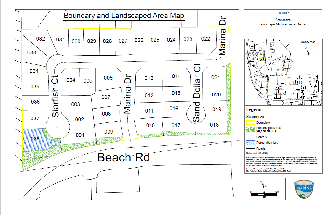 Seabreeze Boundary and Landscape Area map