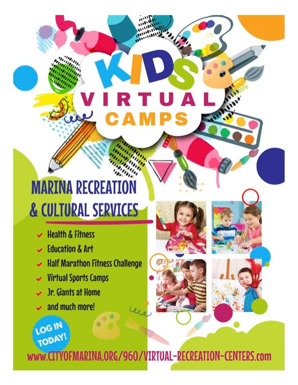 Kids Virtual Camps Flyer
