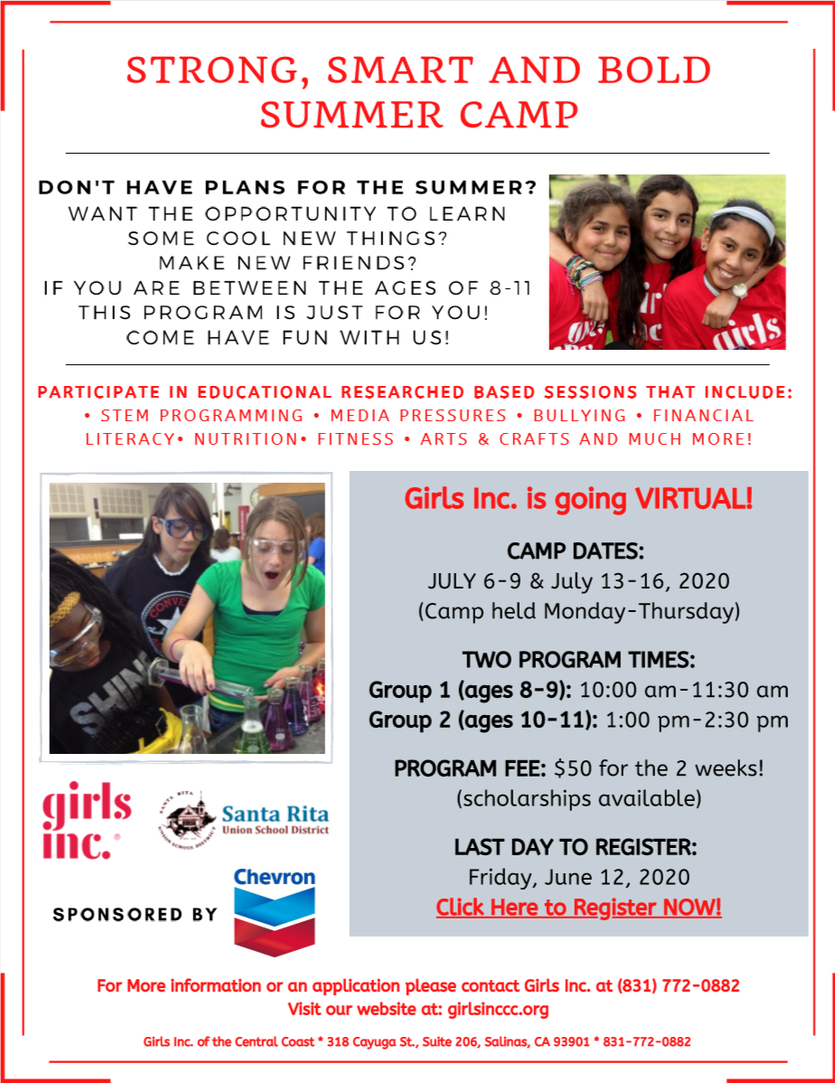 Girls Inc Virtual Summer Camp 2020 Opens in new window