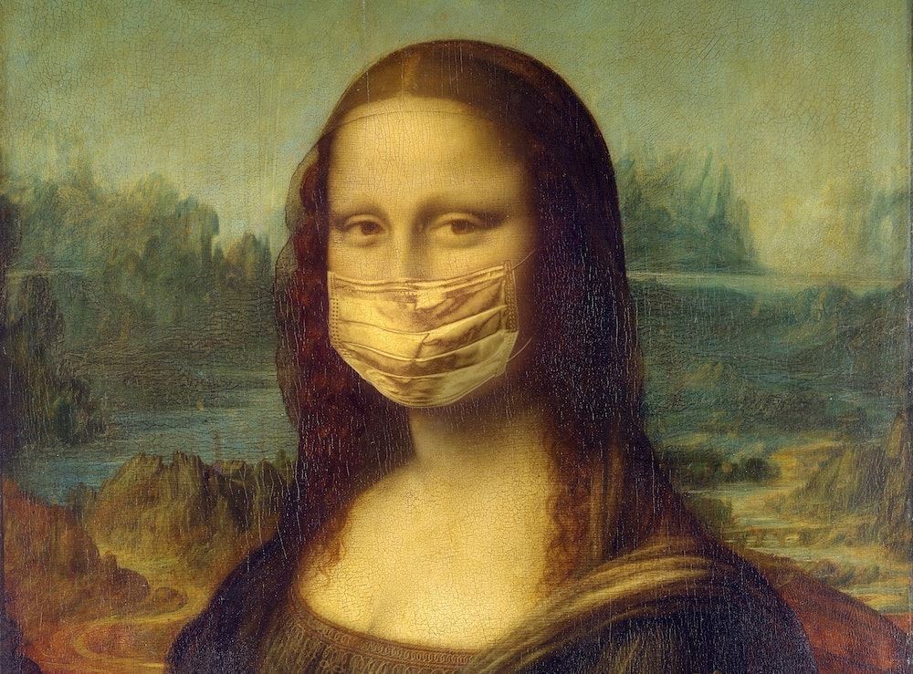 Mona Lisa with Face Mask  Photo by Yaroslav Danylchenko from Pexels